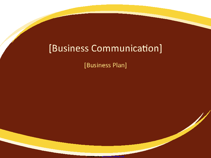 Business Plan Presentation Burgundy Wave Design