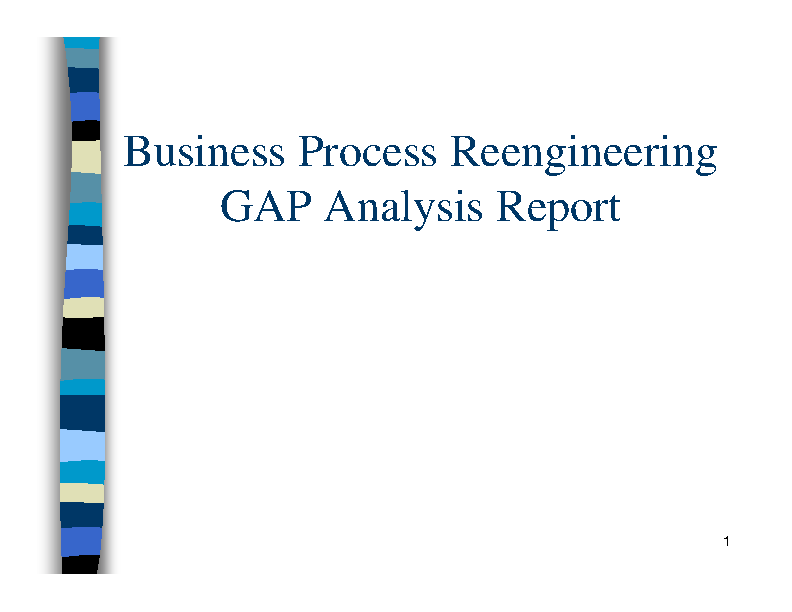 Business Process Reengineering Gap Analysis Report