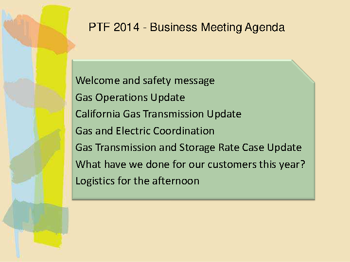 Business Safety Meeting Agenda Template