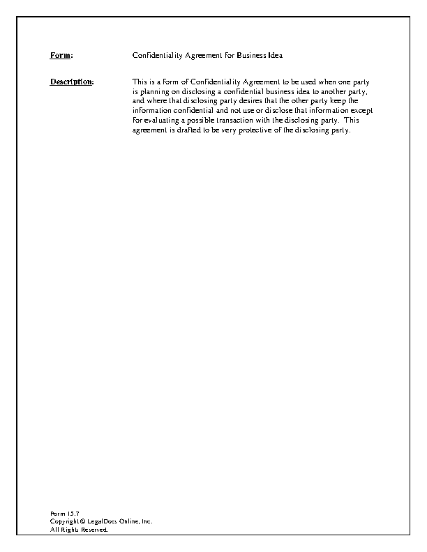 Business Sample Celebrity Confidentiality Agreement