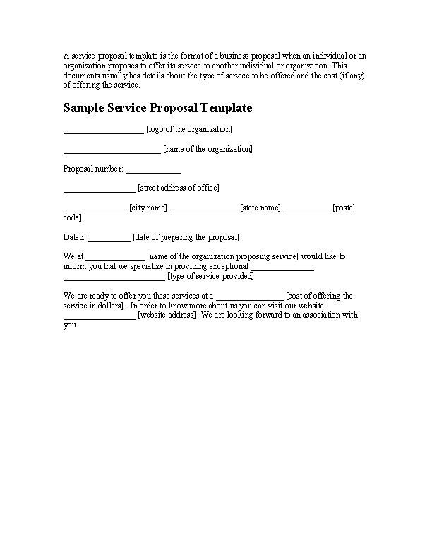 Business Service Proposal Template