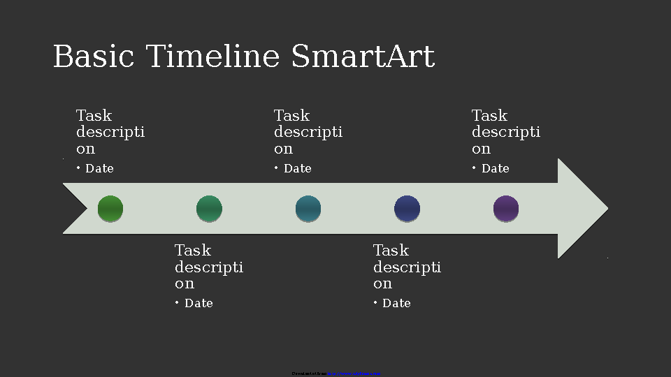 Business Timeline Smartart Diagram Slide