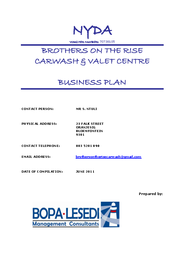 Car Wash Business Plan Sample1