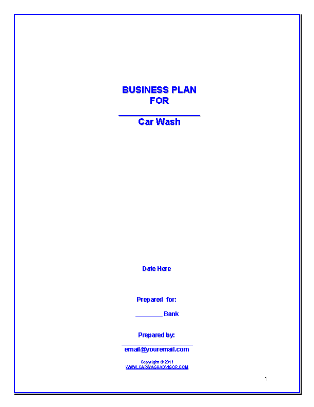 Car Wash Business Plan1