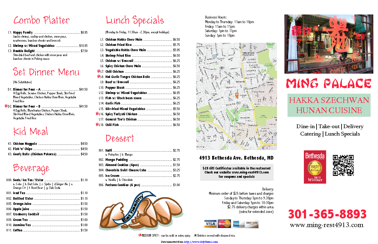 Carryout And Takeout Menu 2