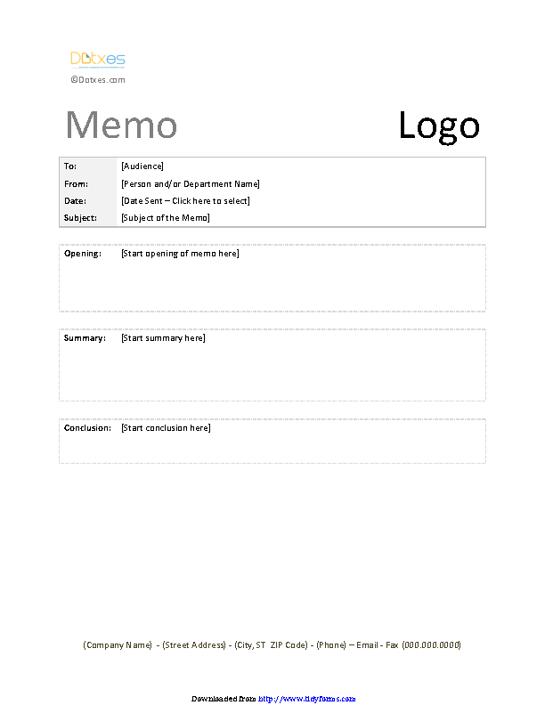 Casual Memo Template