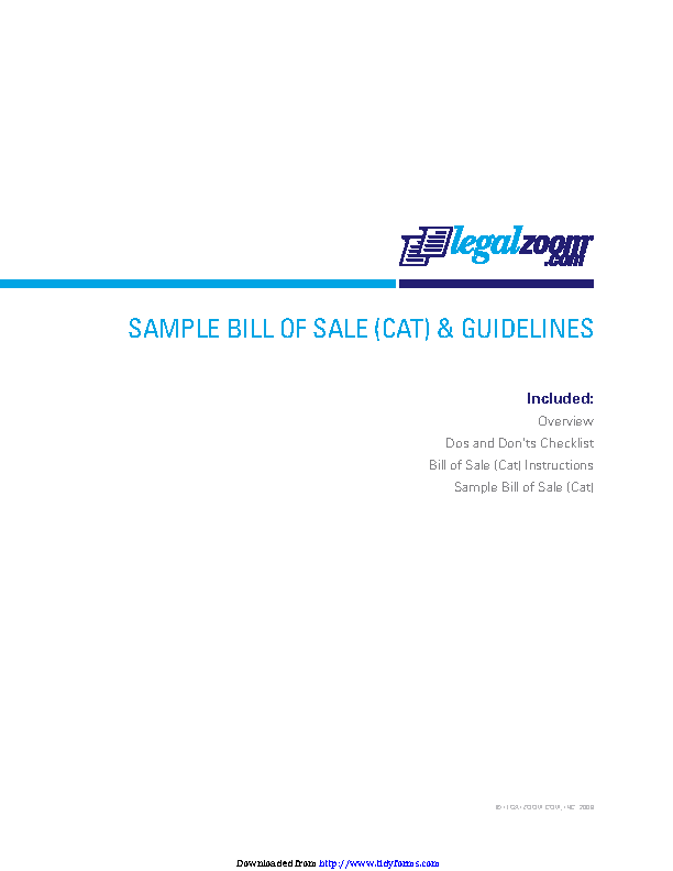 Cat Bill Of Sale 1