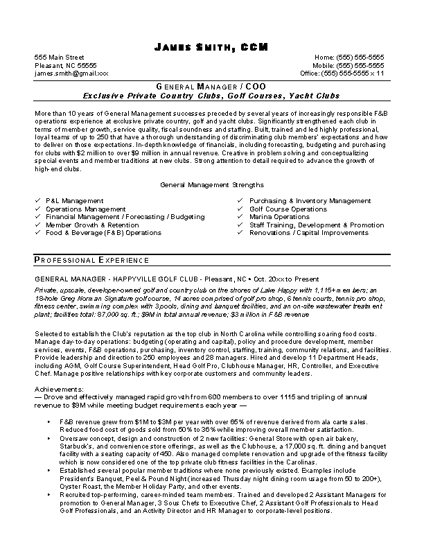 Catering Director Resume