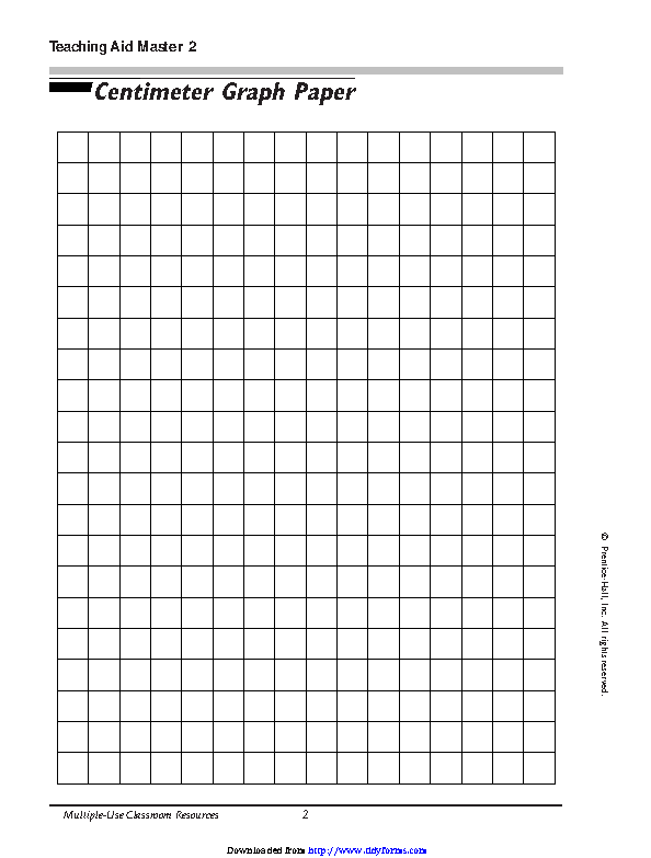 Centimeter Graph Paper 2
