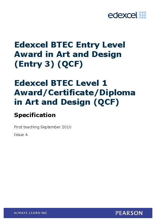 Certificate In Art And Design