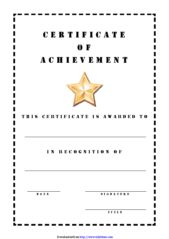 Certificate Of Achievement 2
