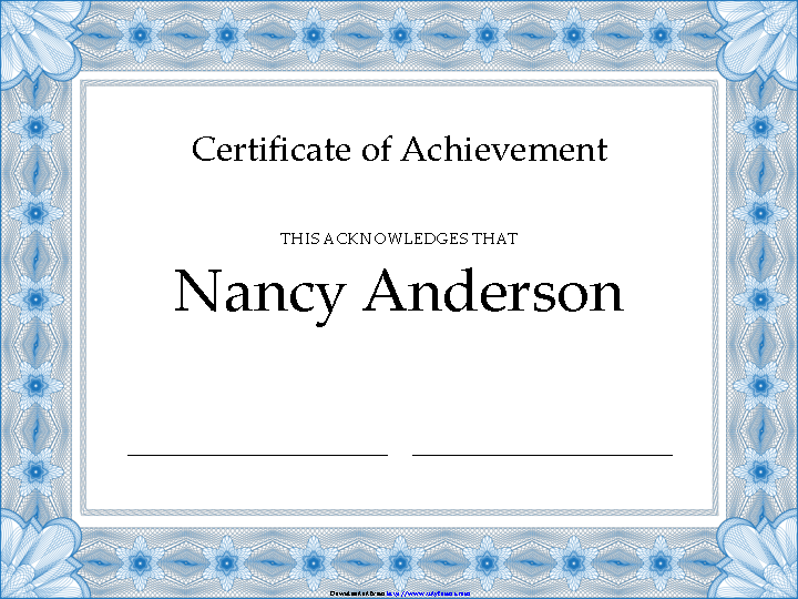 Certificate Of Achievement 3