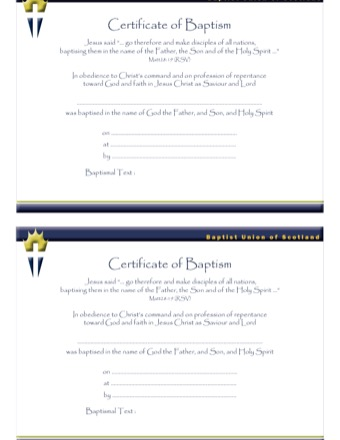 certificate of baptism template PDF