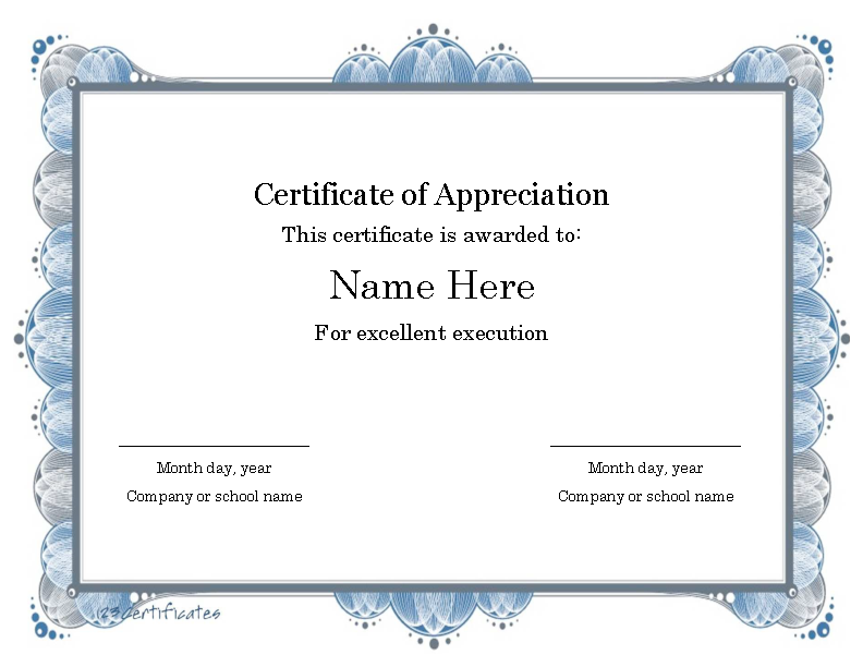 Certificate Templates For Word8