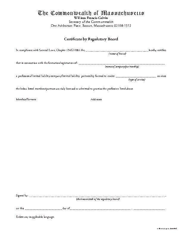 Certificatebyregboard