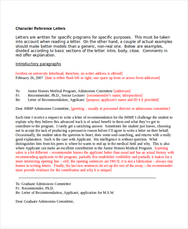Character Reference Letter For Employment1