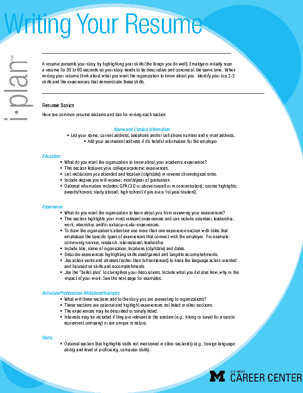 Charity Resume Template