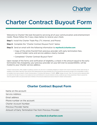charter contract buyout PDF