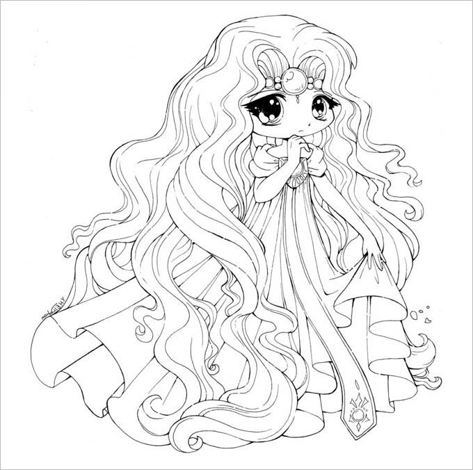Chibi Coloring Template