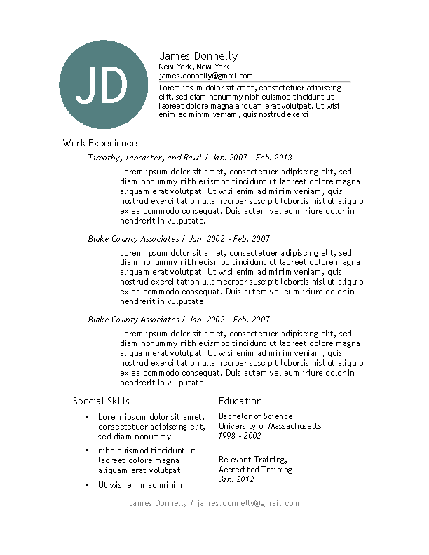 Chicago Resume Template