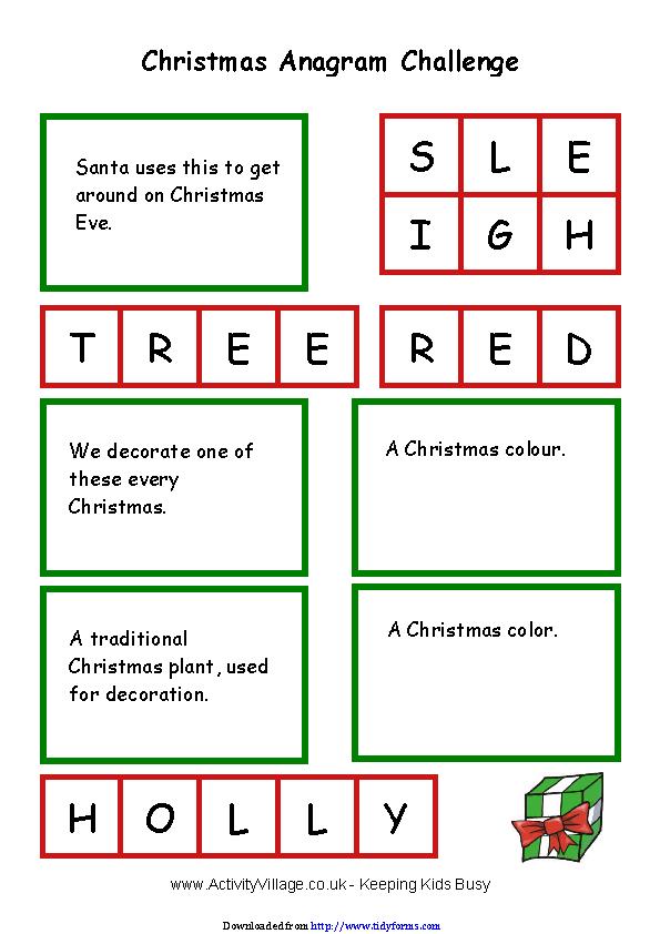 Christmas Anagram Challenge