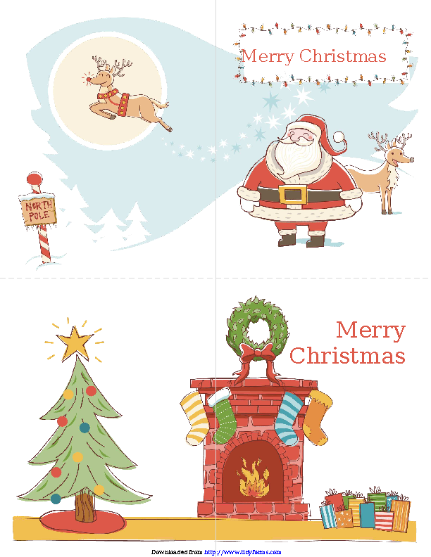 Christmas Card Template 2