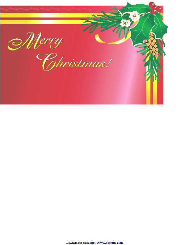 Christmas Card Template 3