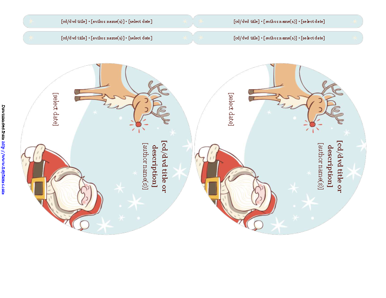 Christmas Cd Label Template