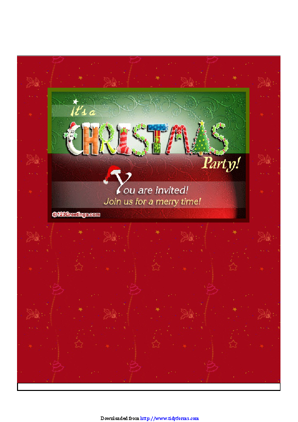 Christmas Invitation Template 1