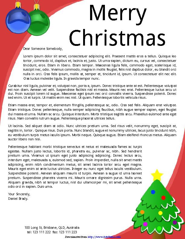 Christmas Letterhead Template 2