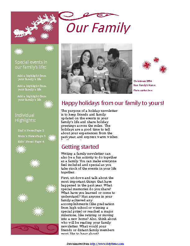 Christmas Newsletter 1