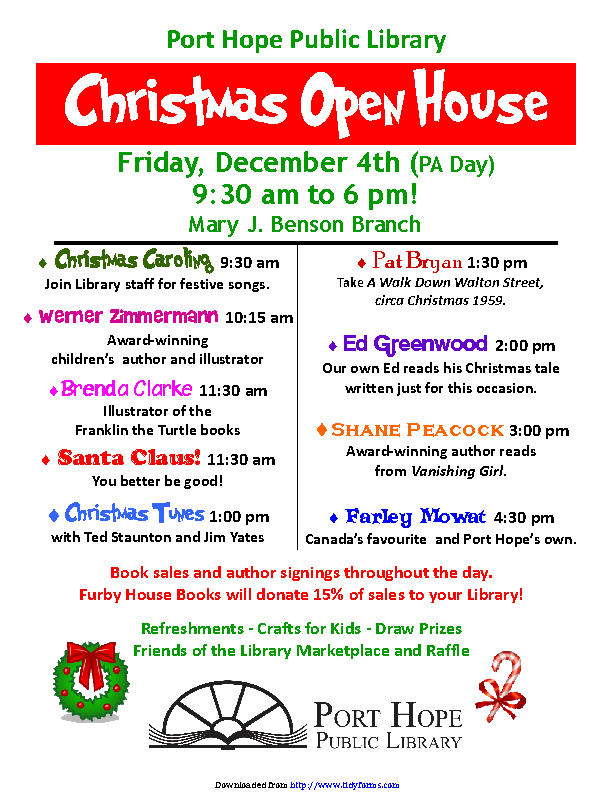 Christmas Open House Flyer