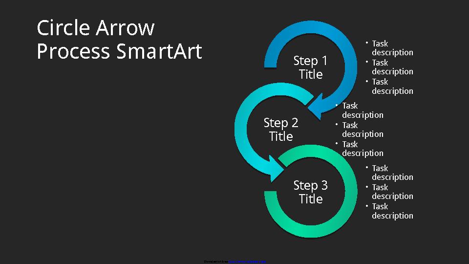 Circle Arrow Process Chart Smartart Slide