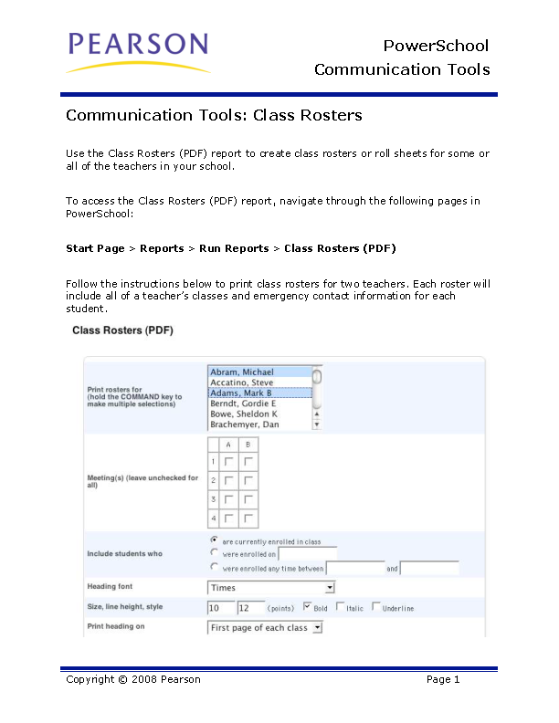 Class Roster Template1
