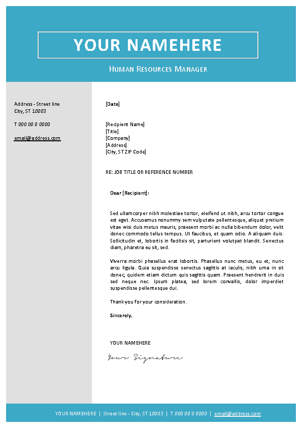 Classic Cover Letter Template Pdfsimpli