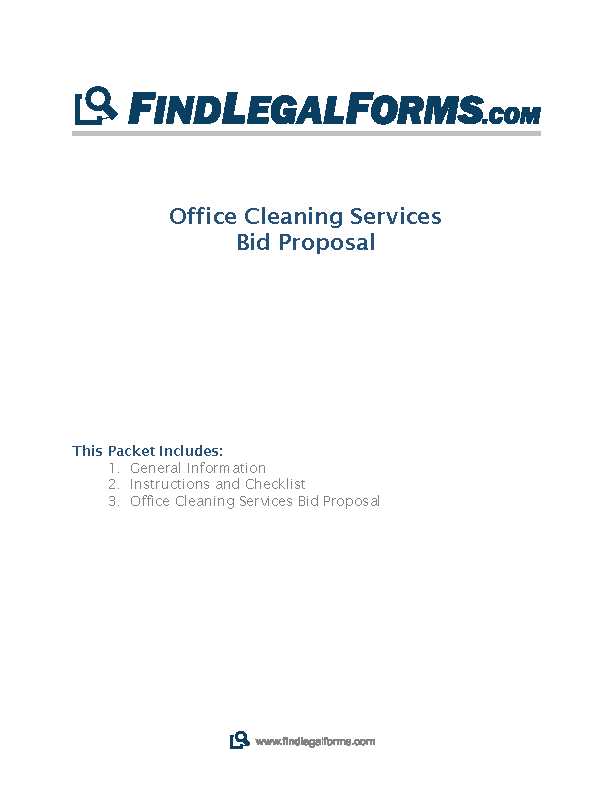 Cleaning Bid Proposal Template