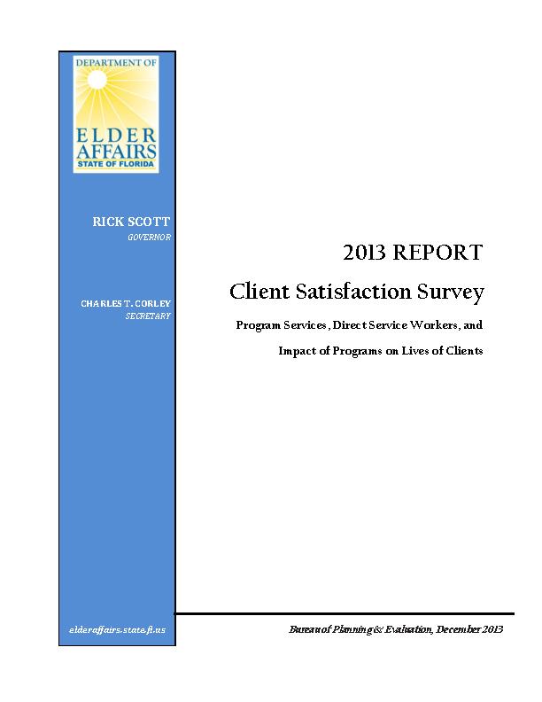 Client Satisfaction Survey Report Template