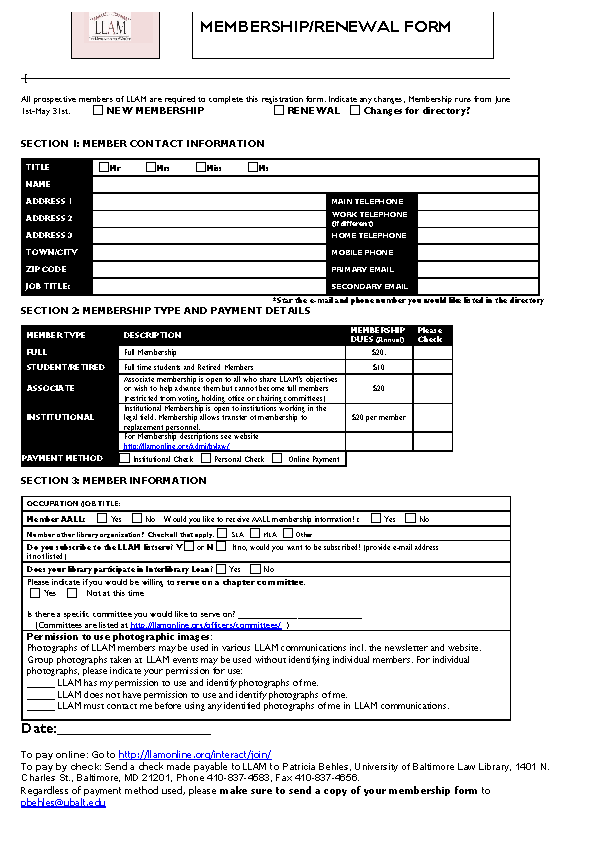 Club Membership Application Form Sample Download