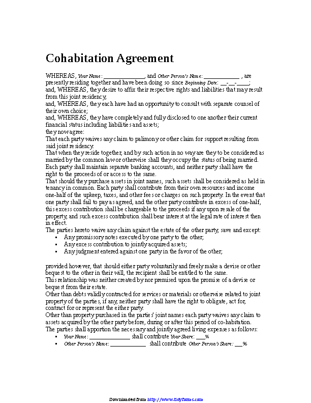Cohabitation Agreement 3