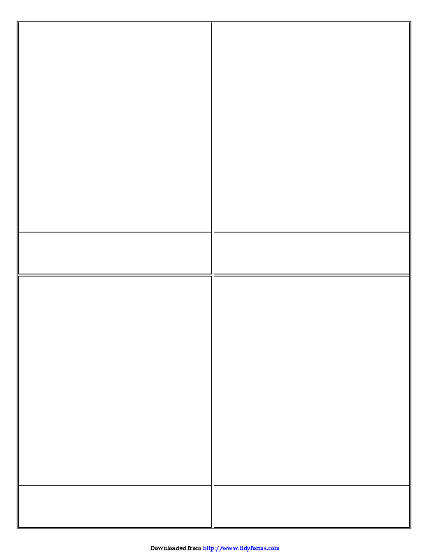 Comic Strip Templates Big Squares