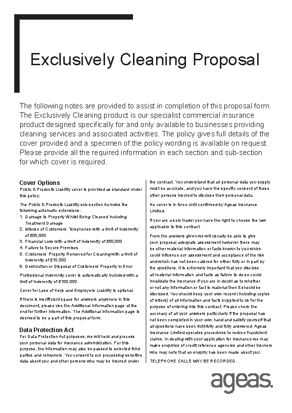 Commercial Cleaning Proposal Template