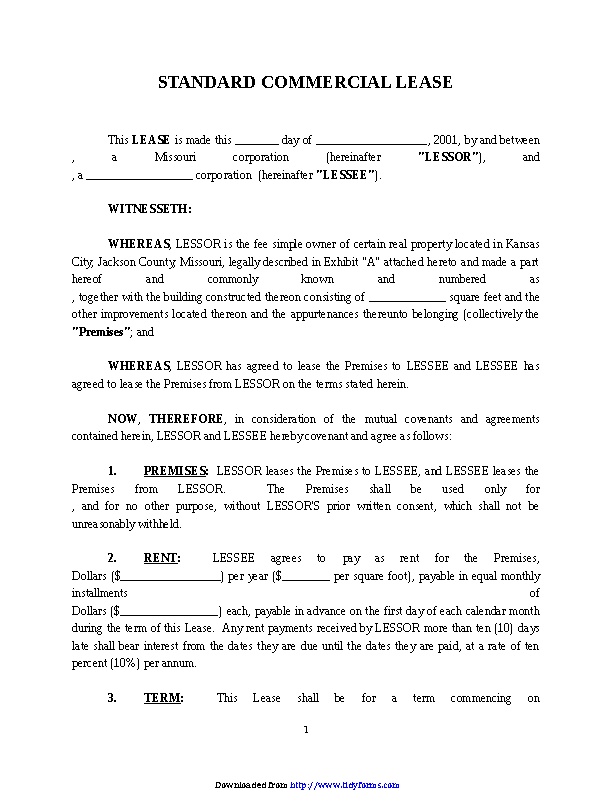 Commercial Lease Agreement 3