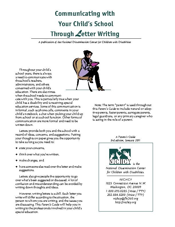 Communicating With Your Childs School Through Letter Writing