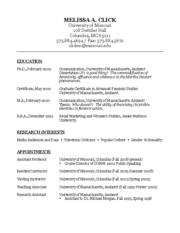 Communication Cv Template