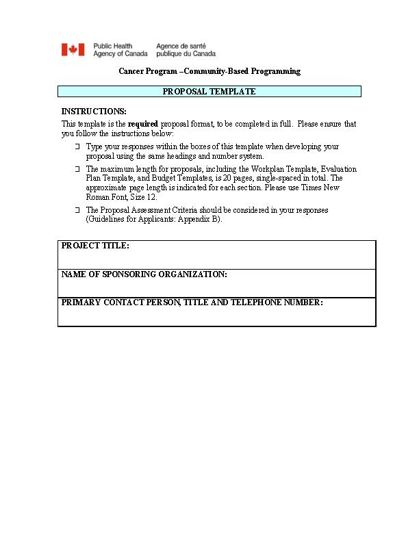 Community Proposal Template