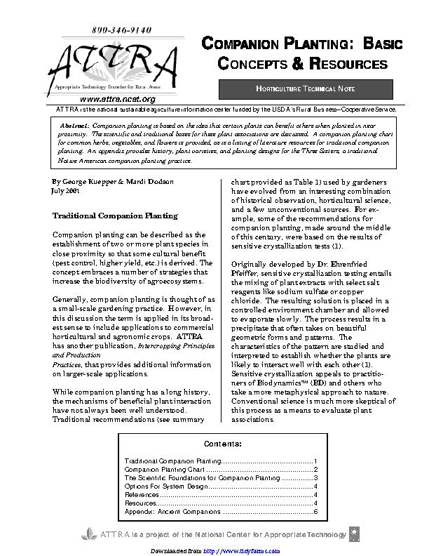 Companion Planting Chart 2