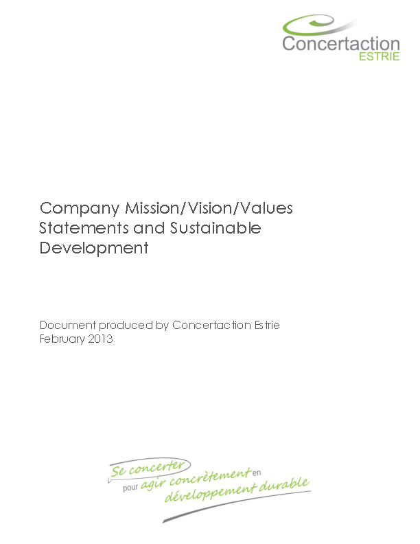 Company Mission Statement Template