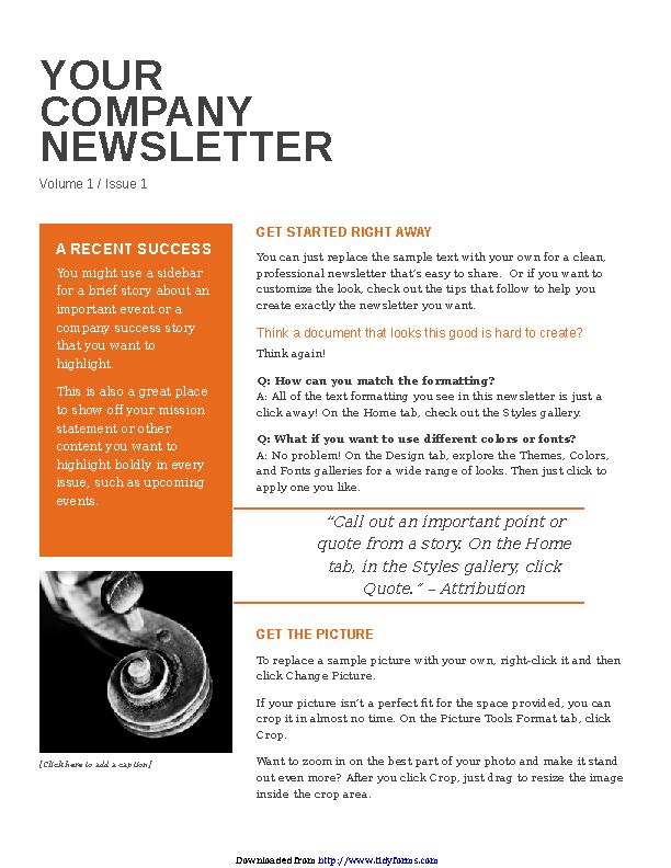 Company Newsletter 1