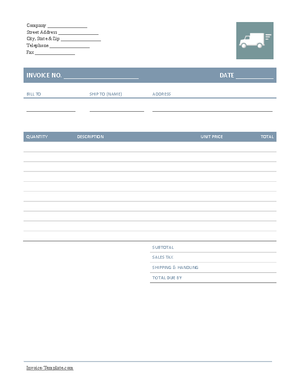 Company Trucking Invoice Template