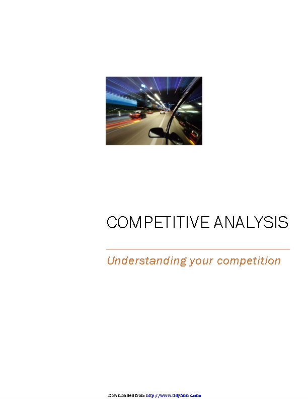 Competitive Analysis Template 1